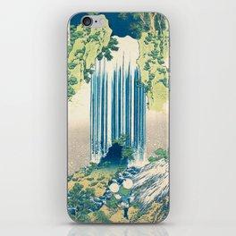Katsushika Hokusa - Yoro Waterfall in Mino Province iPhone Skin