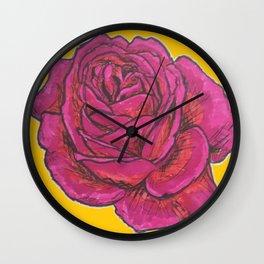 Marker rose Wall Clock