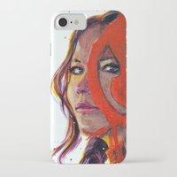 katniss iPhone & iPod Cases featuring Katniss by Alina Rubanenko