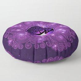 Pondering The Universe Mandala Floor Pillow