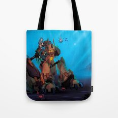 Rust and Water Tote Bag