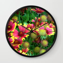 Field of Firewheels Wall Clock