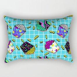I love the eaties blue (80s cupcakes) Rectangular Pillow