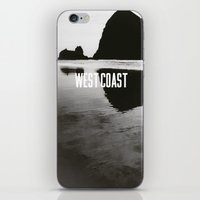 west coast iPhone & iPod Skins featuring West Coast by TrailerMagic