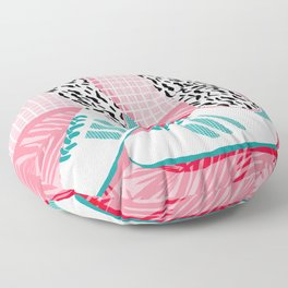 Aiight - sports fashion retro throwback style 1980s neon palm springs socal country club hipster Floor Pillow