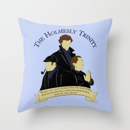 The Holmesly Trinity Throw Pillow
