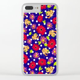 floral kingdom Clear iPhone Case