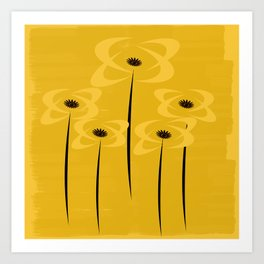 Black Eyed Yellow Flowers Art Print