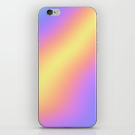 Colorful Gradient Abstract Rainbow Pattern Holographic Foil iPhone Skin