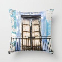 Facade of Taormina in Sicily Throw Pillow