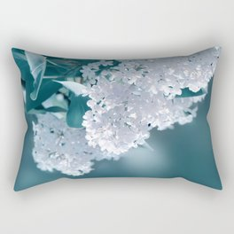 Lilacs blue 092 Rectangular Pillow