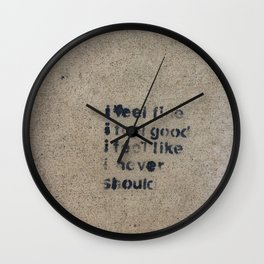 Cemented Series 6 Wall Clock