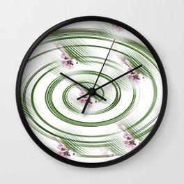 Spinning Flowers Wall Clock
