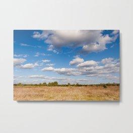 Blue sky cloudscape rural landscape Metal Print