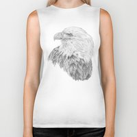 eagle Biker Tanks featuring Eagle by Ora Kolmanovsky