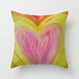 Light Filled Heart Throw Pillow