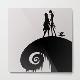 Jack & Sally with Zero Metal Print