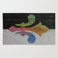 fleur de lis Area & Throw Rugs featuring Fleur de Lis by Michael Creese