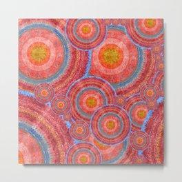 """Sci-fi rose gold abstract mandala pattern"" Metal Print"