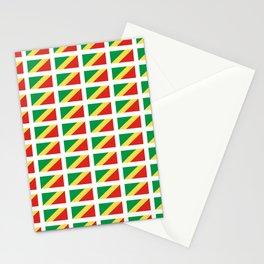 Flag of congo -congolais,congolaise,congolese,brazzaville,kongo,sangha,teke, m'bochi Stationery Cards