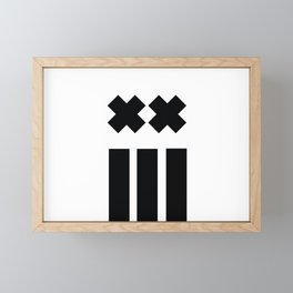 Ex and Stripes Framed Mini Art Print