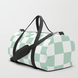 Gingham Nebula Pastels Green Mint Checked Pattern Duffle Bag