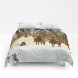 The winter camp - Crow (Apsaroke) Indians Comforters