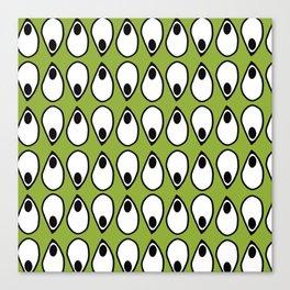 Green Dive- plongeon vers -eyes5 Canvas Print