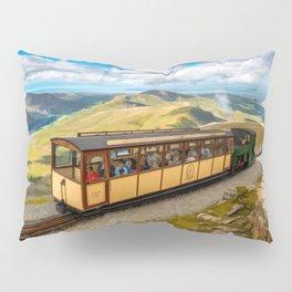 Mountain Train Snowdon Wales Pillow Sham