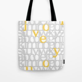 The ABC of i love you. In Yellow Tote Bag