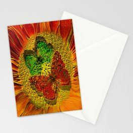 The flower of Love  (This Artwork is a collaboration with the talented artist Agostino Lo coco) Stationery Cards