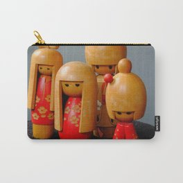 Jpanese Dolls Carry-All Pouch