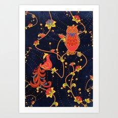 Folk Art Art Print