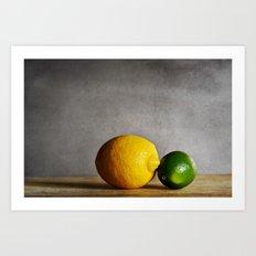 Lemon and Lime Art Print