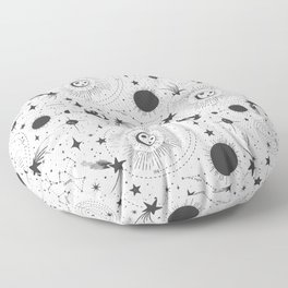 Solar System - White Floor Pillow
