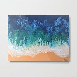 Blue Fusion Metal Print