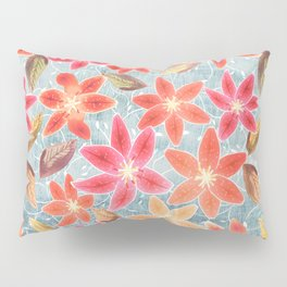 Cute Lilies and Leaves Pillow Sham