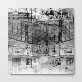 Summer space, smelting selves, simmer shimmers. 27, grayscale version Metal Print