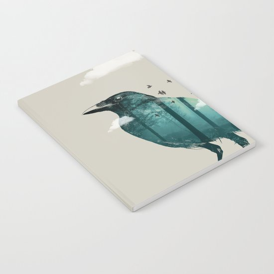 Teal Raven Notebook