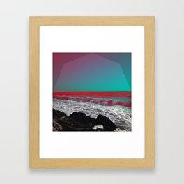 Briny-Blu Framed Art Print