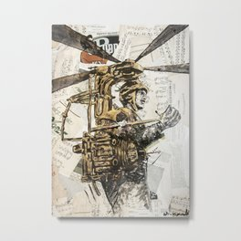 Flying maschine Metal Print