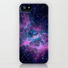 Pink nebula iPhone Case