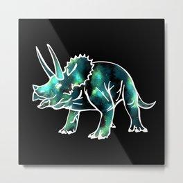 Galaxy Dinosaur Metal Print