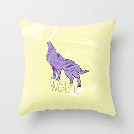 Howling Wolf (Wolfie) Throw Pillow
