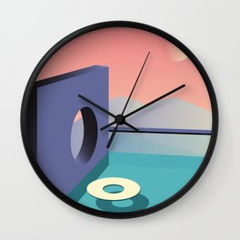 Calm pool  Wall Clock
