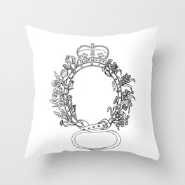 Celtic Belt With Rose and Thistle Drawing Throw Pillow