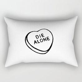 Die Alone Rectangular Pillow