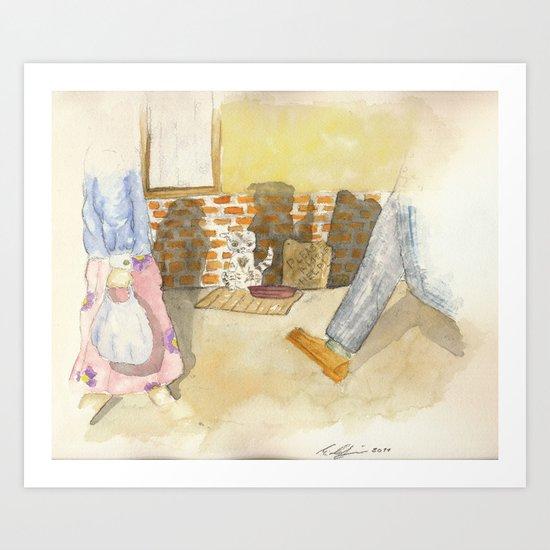 Please a little help! Art Print