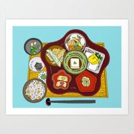 Japanese Veggie Platter Art Print