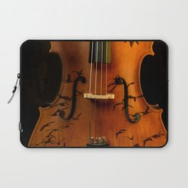 Cello bird music Laptop Sleeve